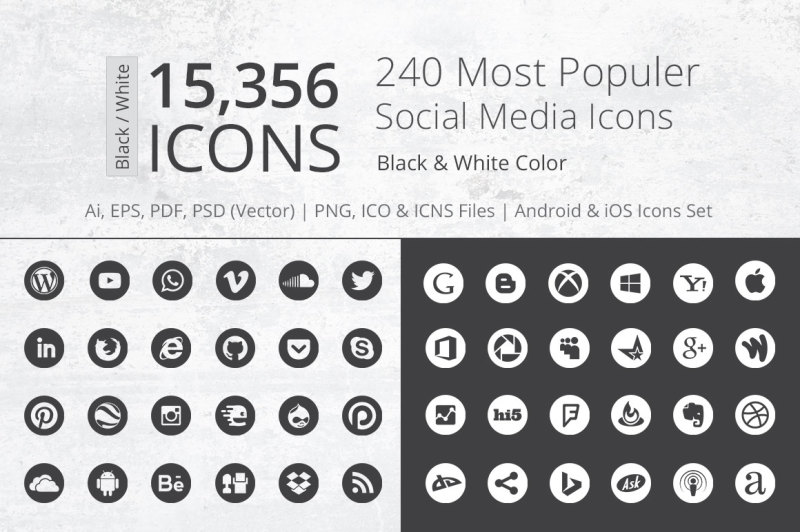 240-round-b-and-w-social-media-icons
