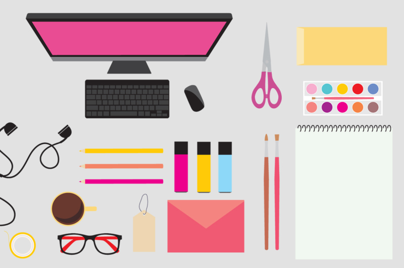 workspace-mockup-vector-icons