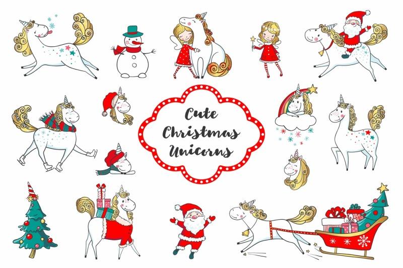 cute-christmas-unicorns