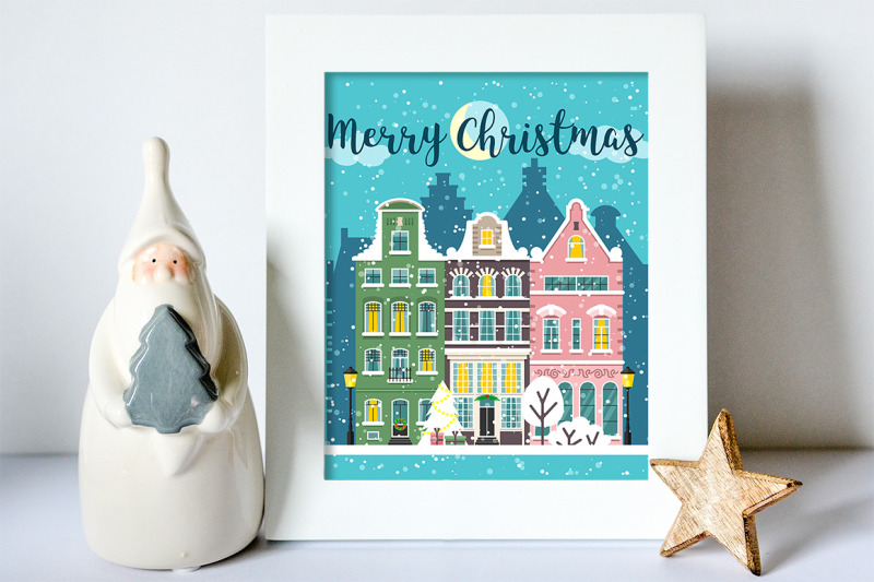 winter-christmas-decorated-street-landscapes