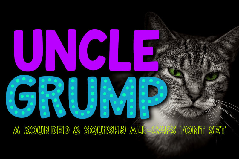 uncle-grump-a-rounded-all-caps-font