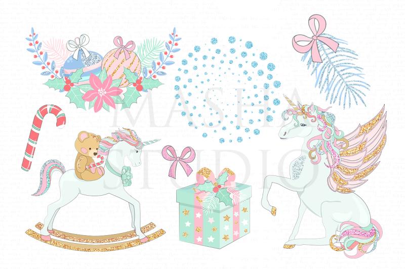 christmas-unicorns-clipart