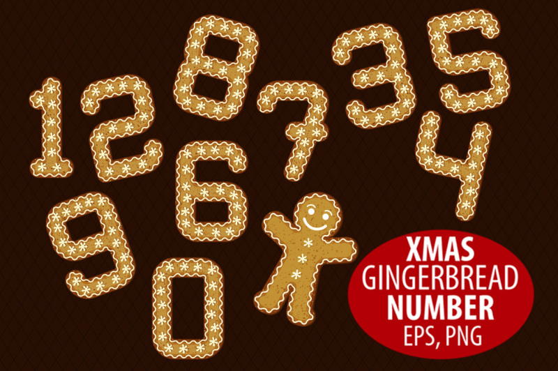 gingerbread-number-clipart