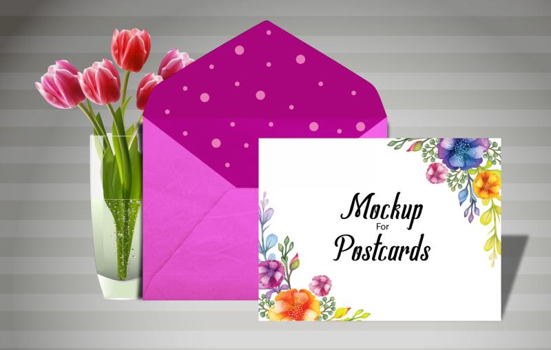 Free Postcard Mock up (PSD Mockups)