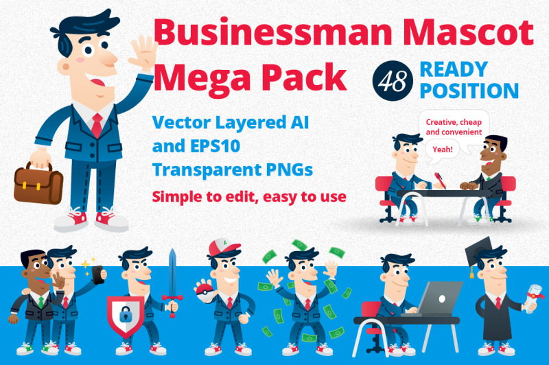 business-man-mascot-mega-pack