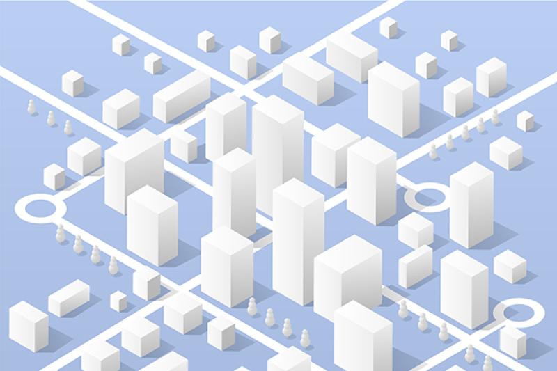 vector-city-isometric-map