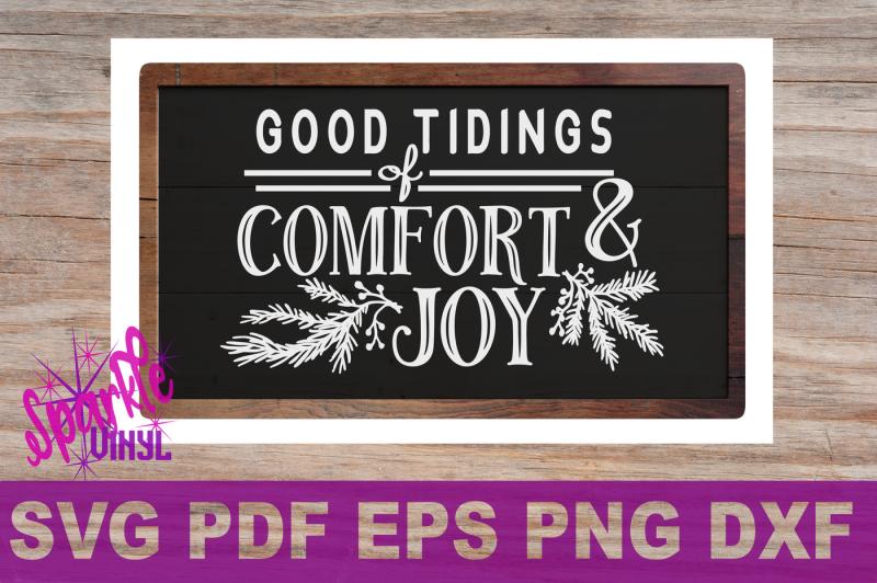 Svg Christmas Comfort And Joy Diy Sign Stencil Farmhouse Style