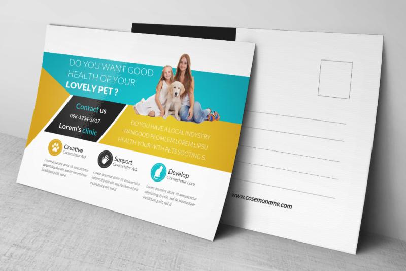 pet-care-doctor-postcard-template