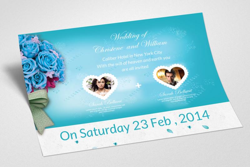 wedding-invitaion-horizontal-flyer