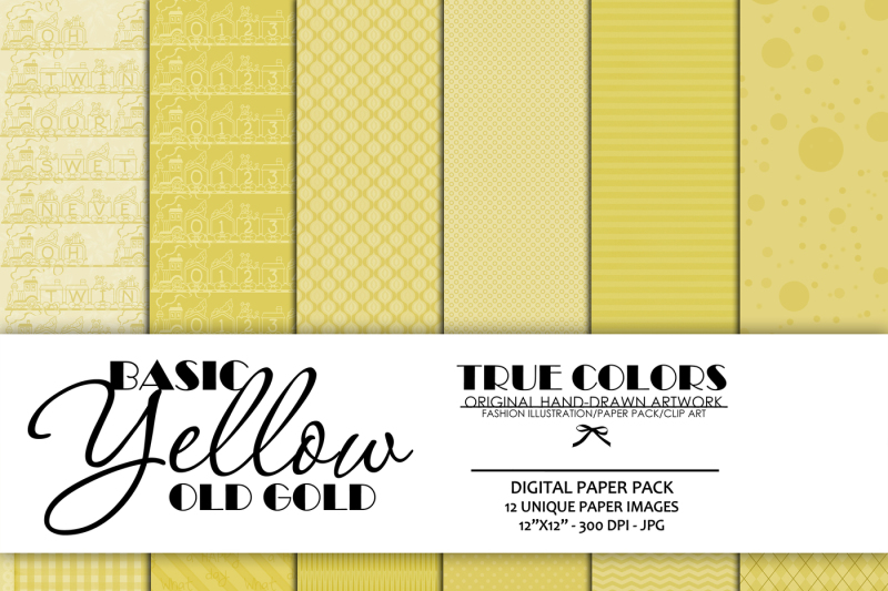 digital-paper-pack-old-gold-paper-pack-yellow-digital-paper-basic-digital-paper-instant-download-scrapbook-digital-paper-basic-yellow-paper