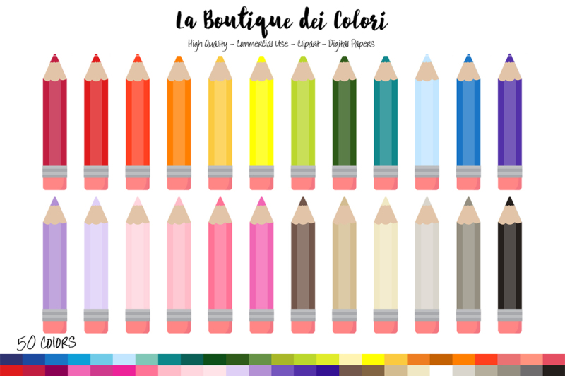 50-rainbow-coloring-pencil-clip-art