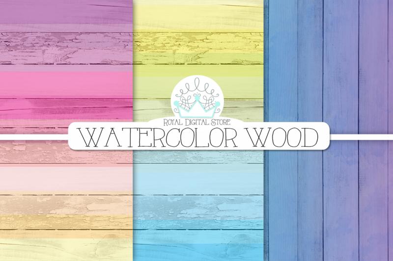 watercolor-wood-digital-paper