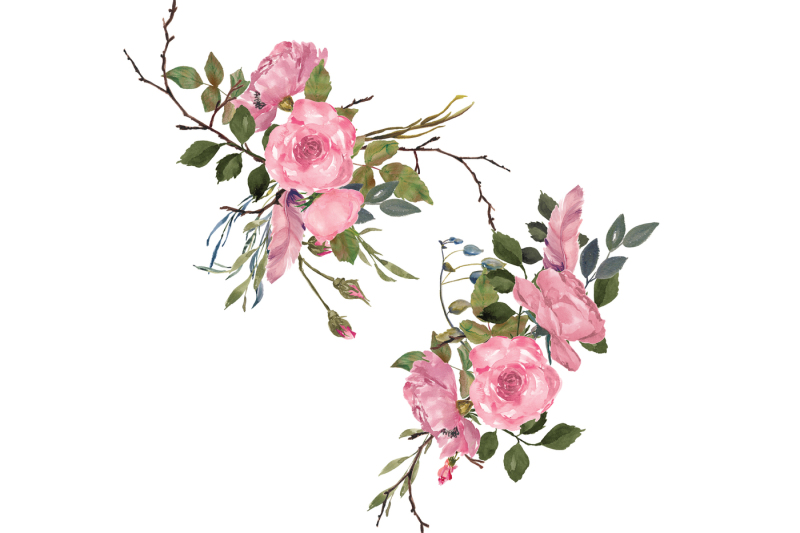 hand-painted-watercolor-dusty-pink-roses-clipart