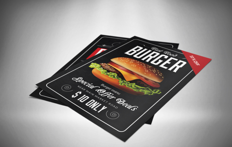 Free Flyer& Menu Mock up (PSD Mockups)