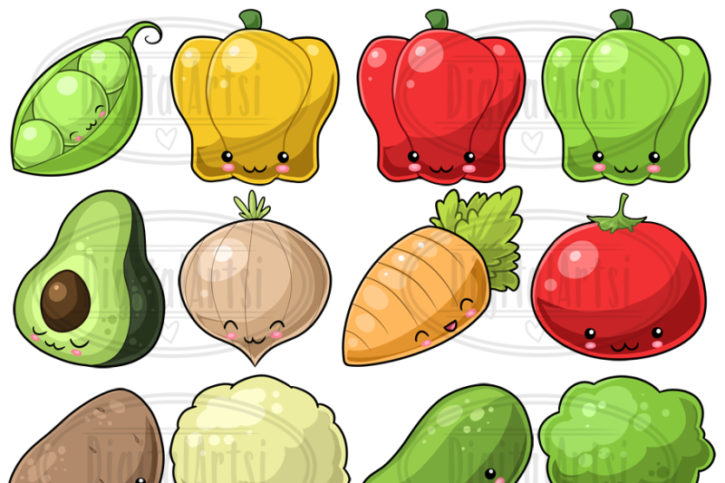 kawaii-vegetables-clipart