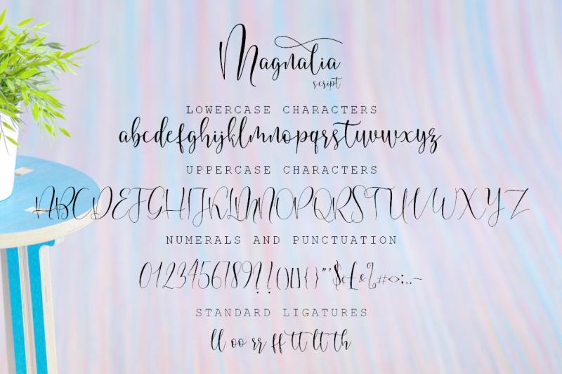 magnalia-font-script
