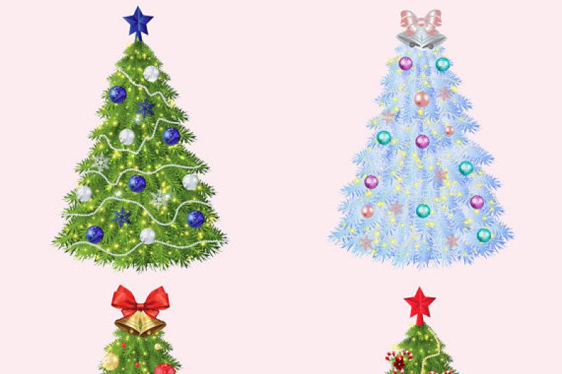 Christmas Trees Clipart By Fantasy Cliparts Thehungryjpeg Com