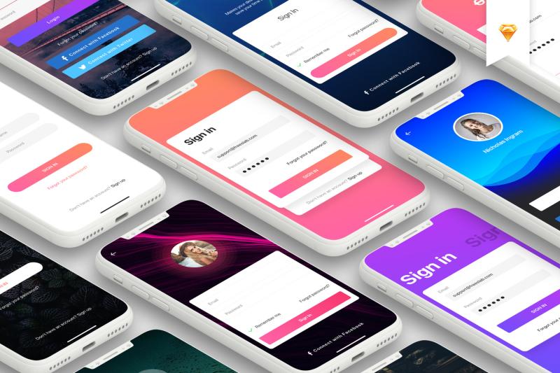 login-mobile-form-ui-kit