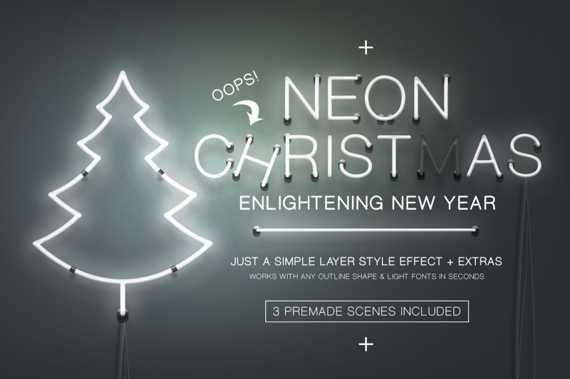 neon-christmas-layer-style