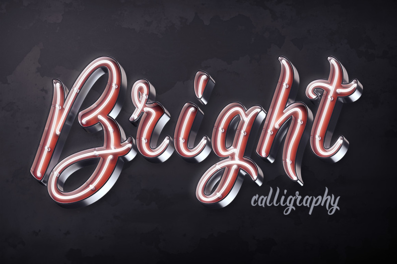 bright-calligraphy-psd-font