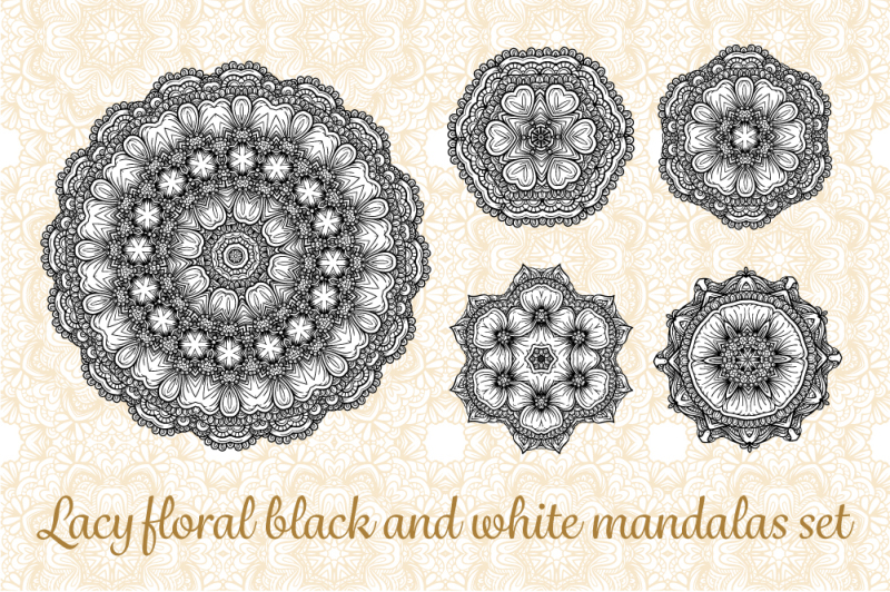 lacy-floral-black-and-white-mandalas-set