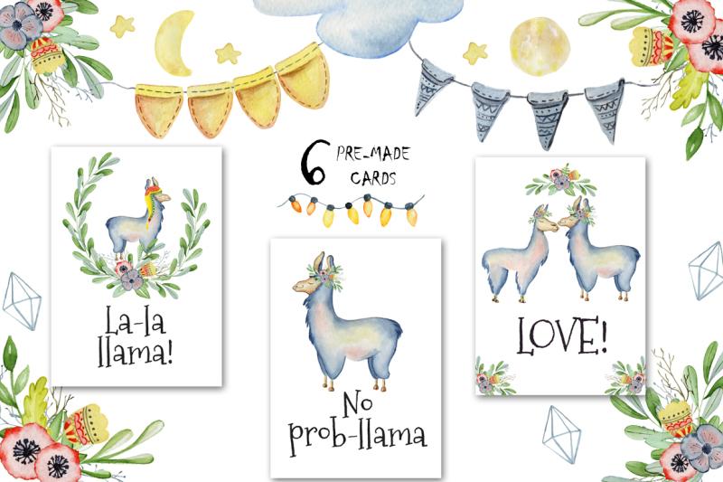 cute-llamas-watercolor-animals-clipart