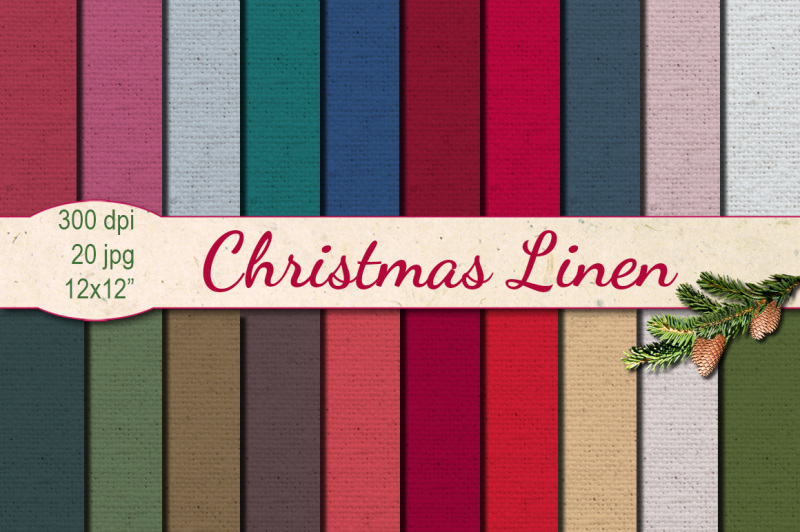 christmas-linen-papers