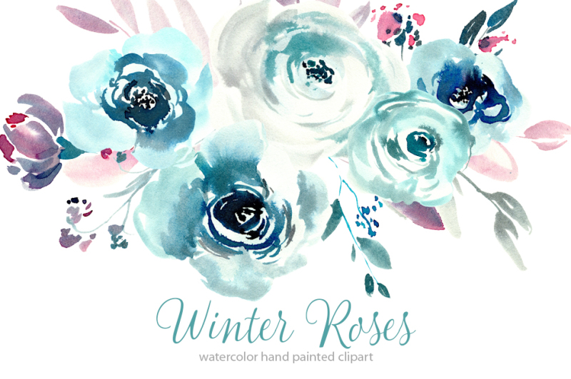 watercolor-blue-winter-roses-png