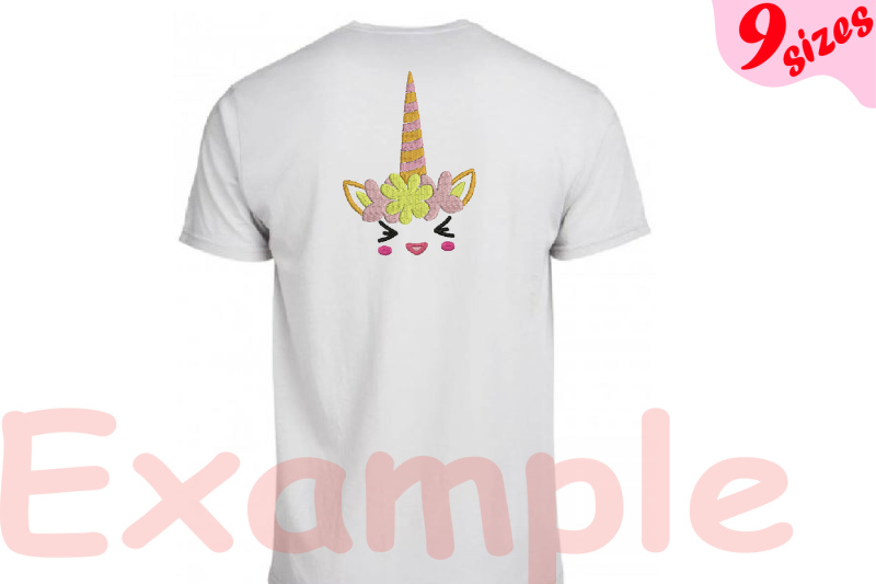 flower-unicorn-embroidery-design-machine-instant-download-commercial-use-digital-file-4x4-5x7-hoop-icon-symbol-sign-strings-birthday-face-smile-kawaii-animals-131b