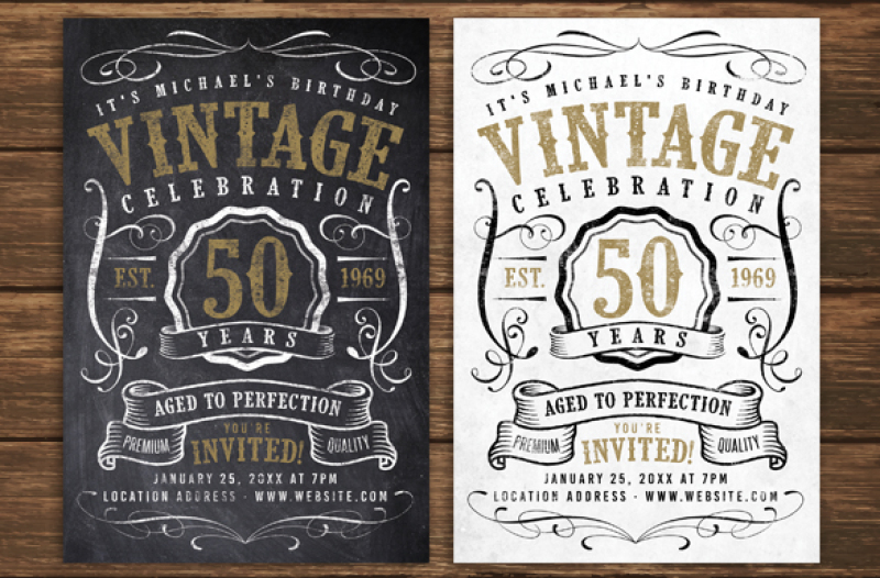 chalk-vintage-birthday-flyer