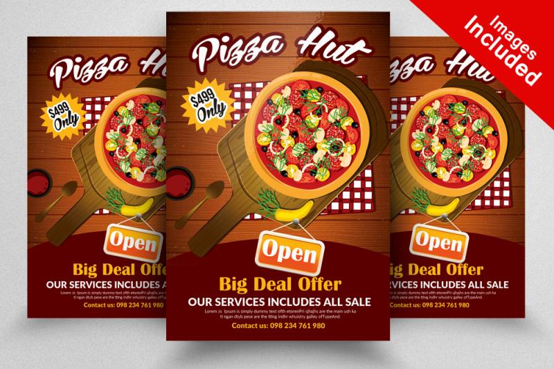 hot-pizza-restaurant-flyer