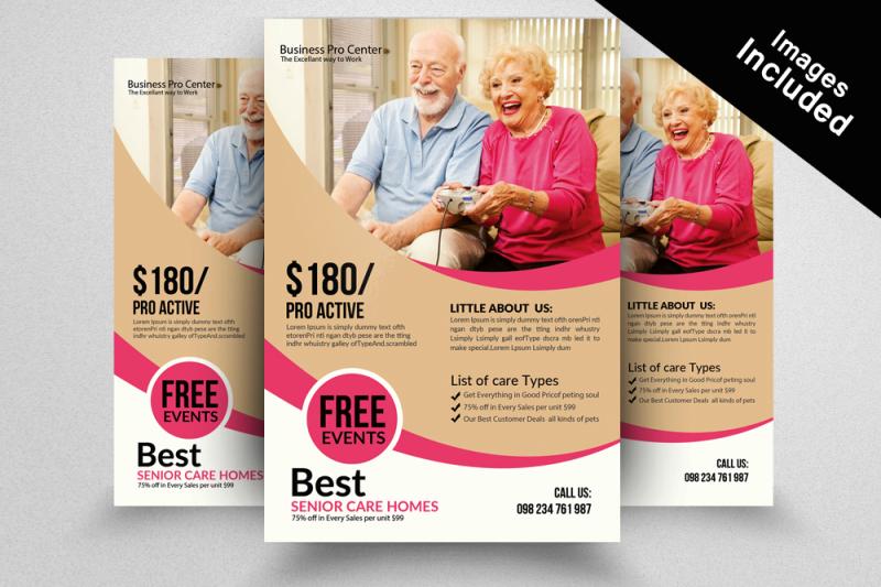 senior-care-flyer-template
