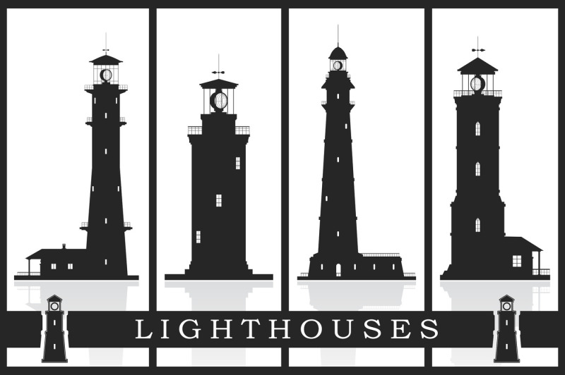 lighthouses-set-eps-psd-jpg