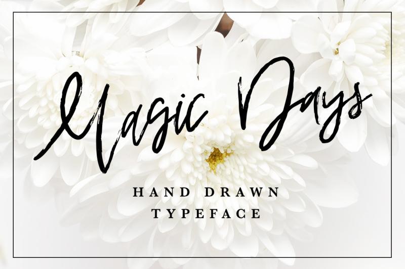 magic-days-hand-drawn-font