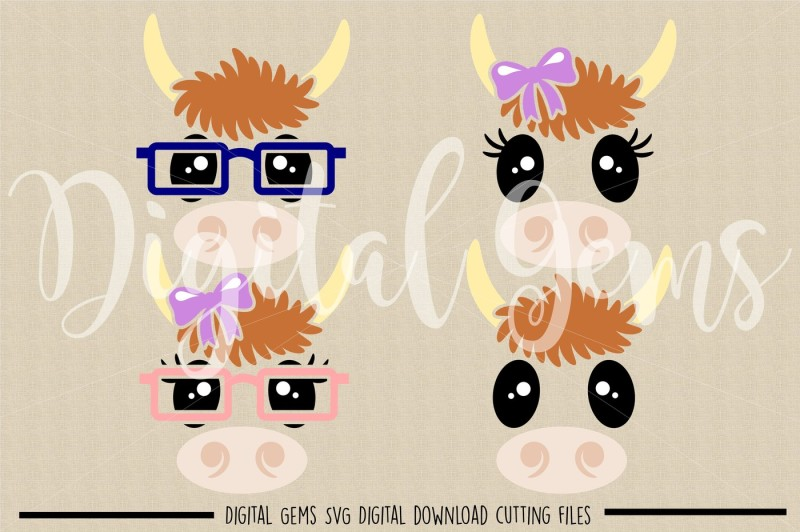 cow-faces-svg-dxf-eps-png-files