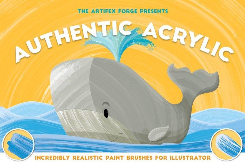 authentic-acrylic-brushes