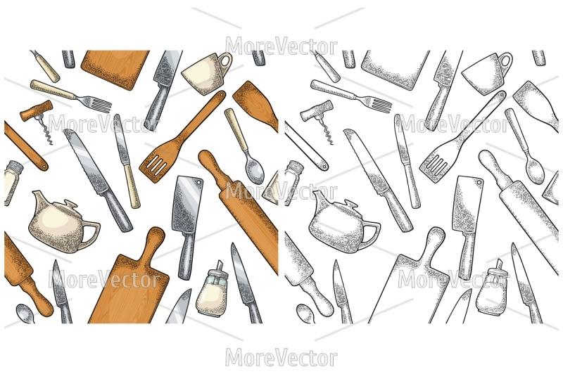 seamless-pattern-kitchen-utensils
