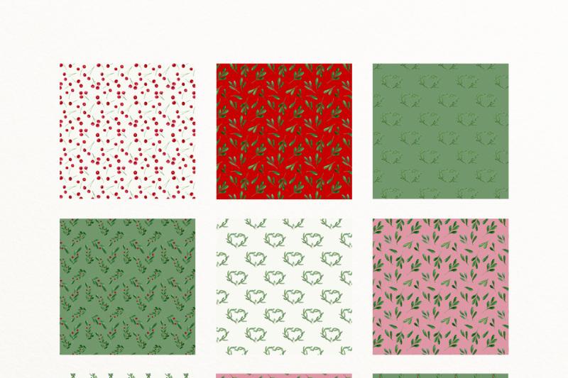christmas-watercolor-digital-paper