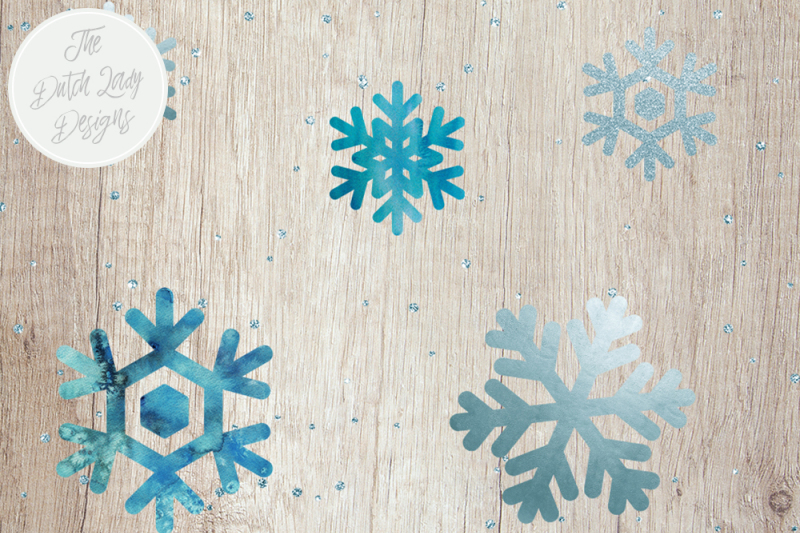 snowflake-and-snow-overlay-clipart-set