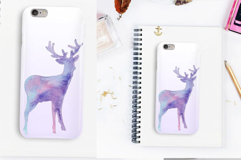magic-deers-watercolor-illustration