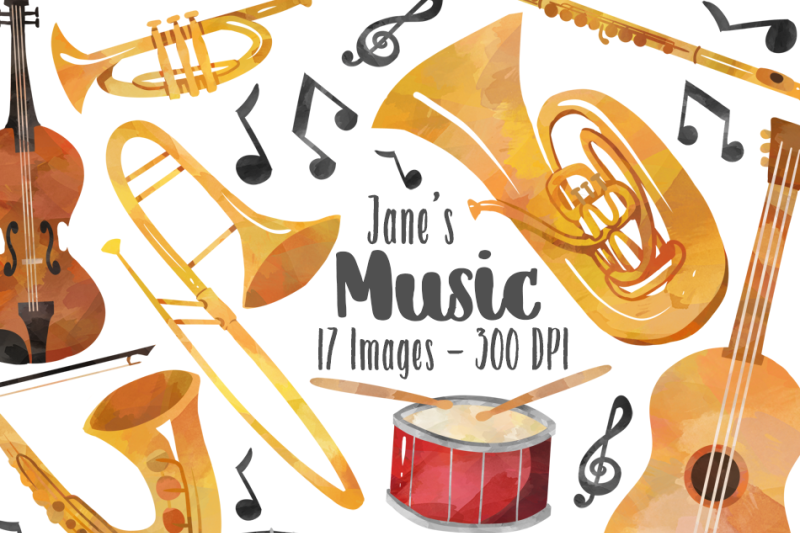watercolor-music-clipart