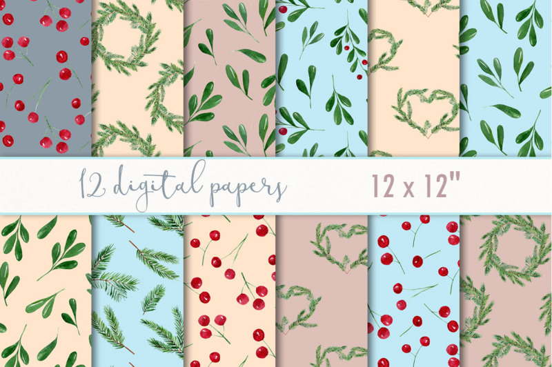 winter-digital-paper-pack