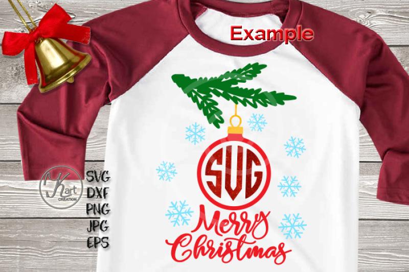 Christmas Monogram Svg Christmas Bundle Svg Christmas Ornament