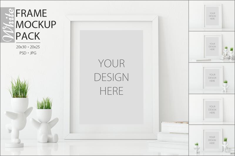 Free White Frames Mockup - PACK (PSD Mockups)