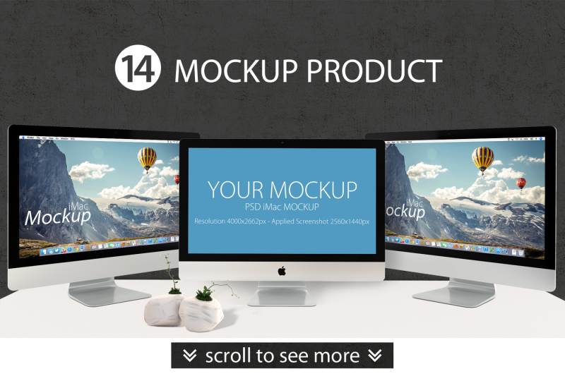 Download Apple Monitor Mockup Psd Yellowimages