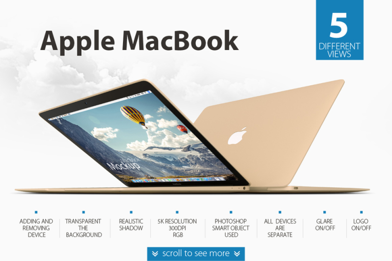 Macbook And Iphone Mockup Psd