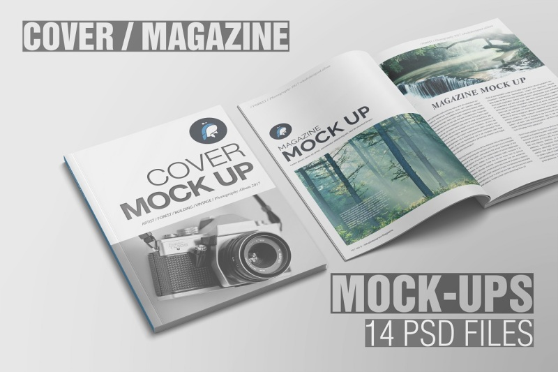 Free Magazine Mockups (PSD Mockups)