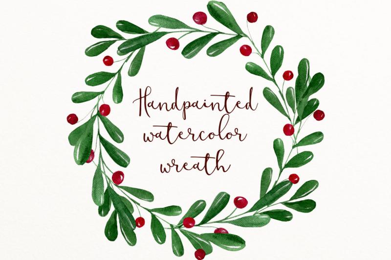 christmas-watercolor-wreath