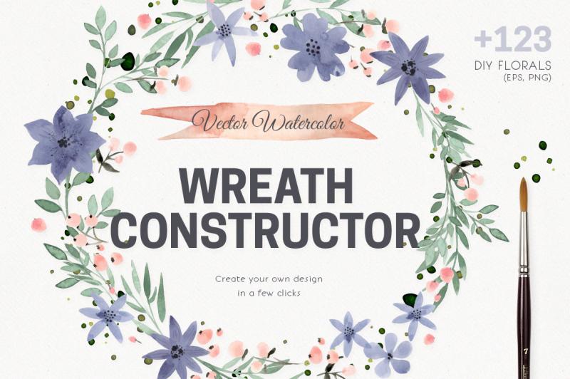 watercolor-vector-wreath-constructor