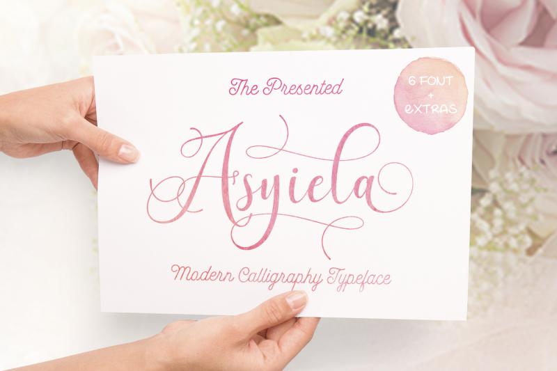 asyiela-script-font-bundle